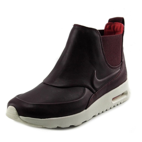 Nike Air Max Thea Mid Women Round Toe Leather Sneakers