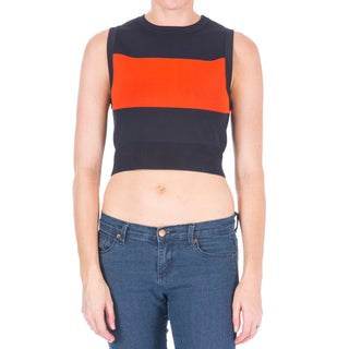 A.L.C. Womens Pullover Sweater Striped Cropped