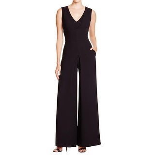 Vince Womens Jumpsuit Double-V Sleeveless