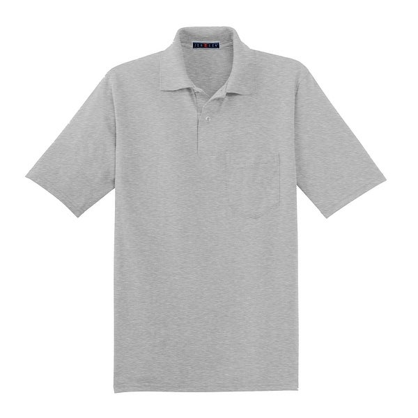 e43d9742 Shop Jerzees 50/50 Pocket Sport Shirt With SpotShield, Ash XL - X-Large -  Free Shipping On Orders Over $45 - Overstock - 22809662