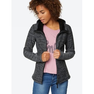 Knitted Fleece Jacket In Black