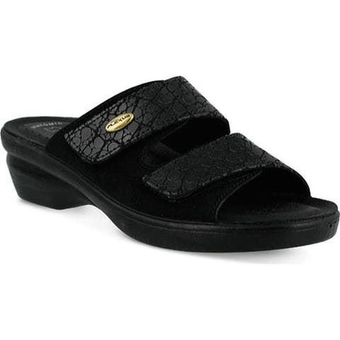Flexus by Spring Step Women's Quickstep Black Croco/Suede