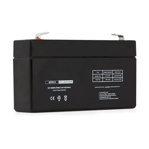 Replacement AGM SLA Battery 6V-1.2Ah (Single Pack) Replacement AGM SLA Battery