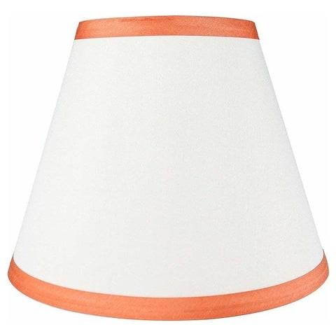Hardback Faux Silk Coolie Lamp Shade, 5 inch Top, 9 inch Bottom, 7 inch Slant