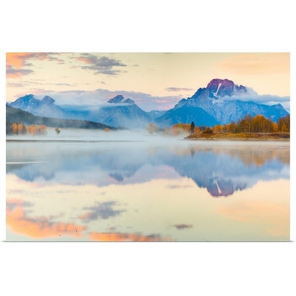 """""""Misty morning at Oxbow Bend"""" Poster Print"""
