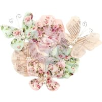 Misty Rose Mulberry Paper Flowers 6/Pkg-Mabel