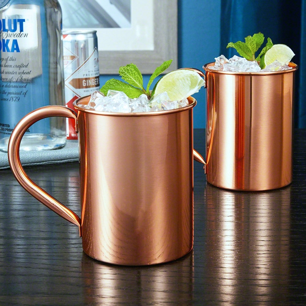 Nikolay Large 22 oz Copper Mugs, Set of 2 - Thumbnail 0