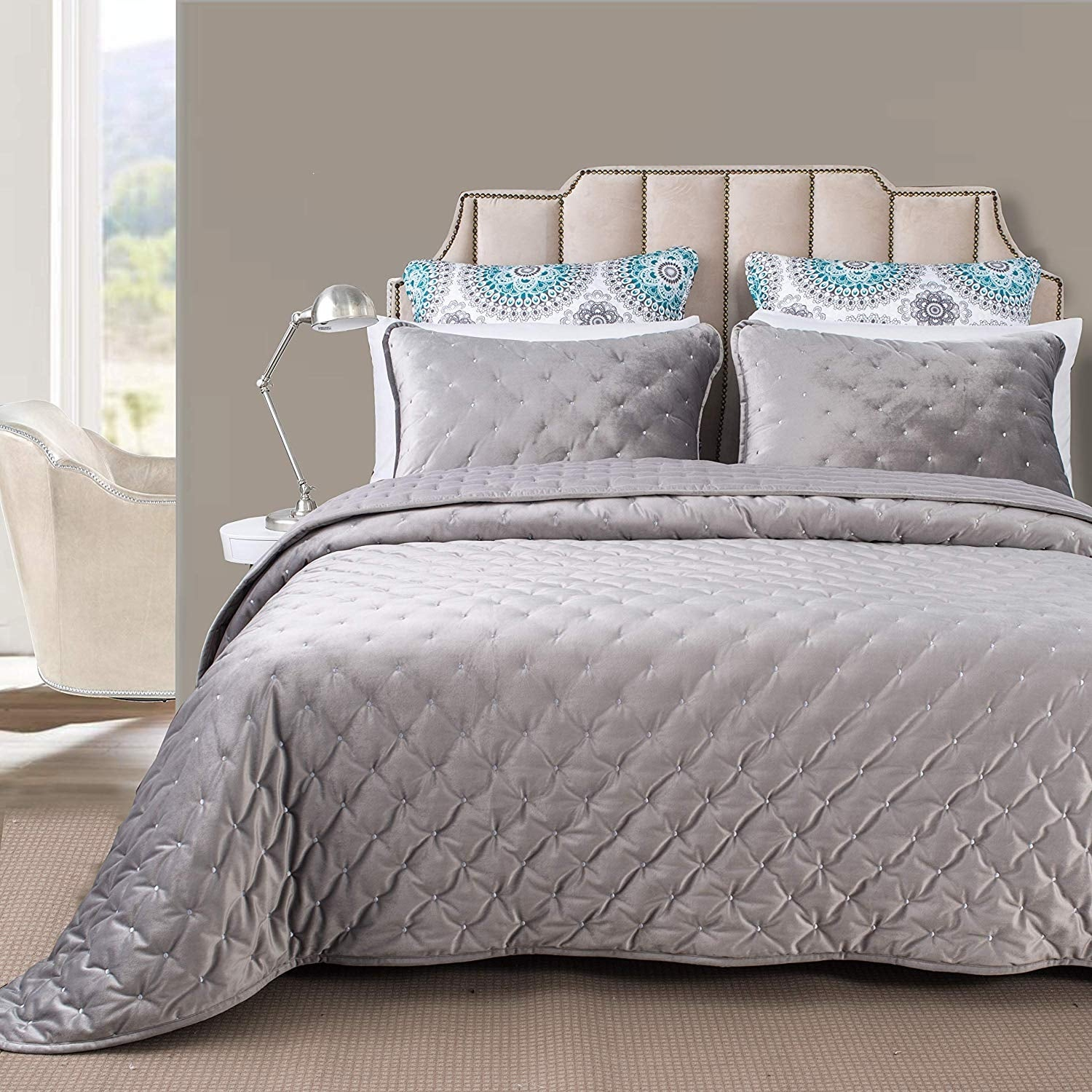 Driftaway 3 Piece Velvet Quilt Set Bedspreads Coverlets Cover Prewashed On Sale Overstock 30581603
