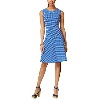Tommy Hilfiger Womens Casual Dress Textured Gingham
