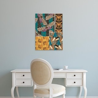 Easy Art Prints Eugene Seguy's 'Decorative Butterflies I' Premium Canvas Art