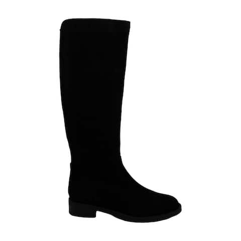 Aqua College Womens Elsa Leather Almond Toe Mid-Calf Fashion Boots