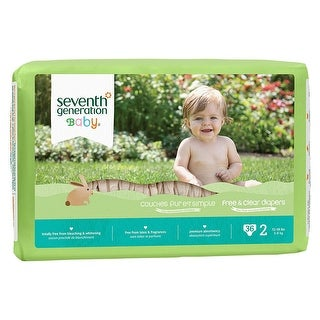 Seventh Generation Baby Diapers, Stage 2, 12-18# - (Case of 4 - 36 ct)