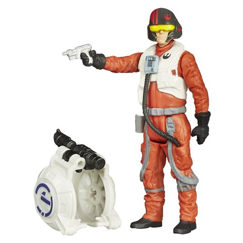 Star Wars The Force Awakens 3.75-Inch Figure Space Mission Poe Dameron - Multi-Colored