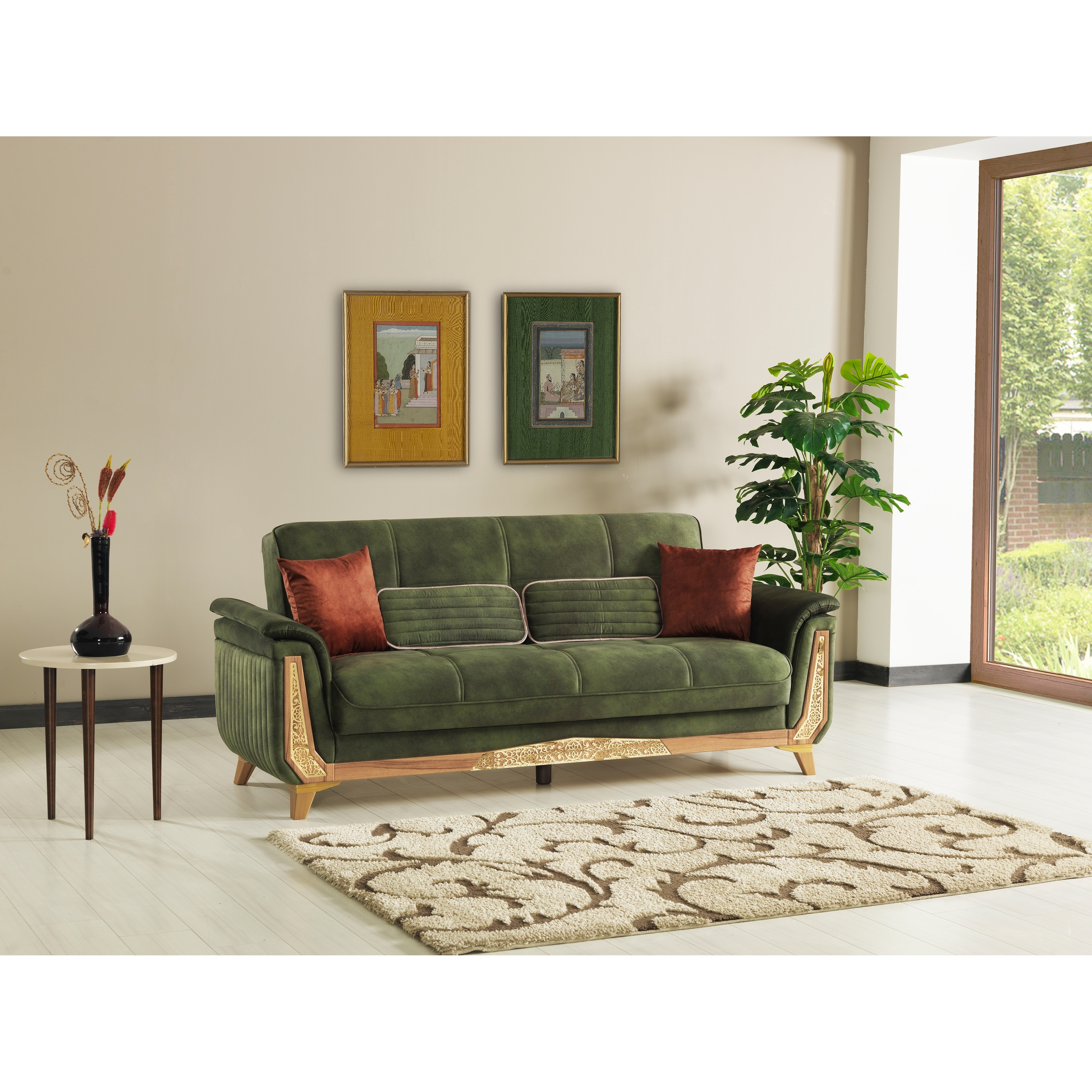 Picture of: Ephesus Convertible Sleeper Sofa For Living Rooms Overstock 30962941