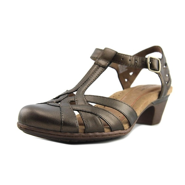 Rockport Aubrey Women Open Toe Leather Bronze Sandals