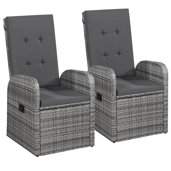 Shop vidaXL Reclining Garden Chairs 2 pcs with Cushions Poly