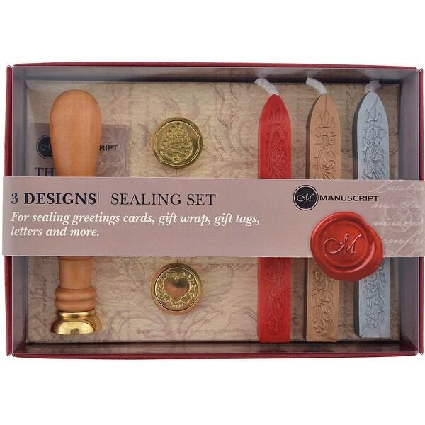 Long Handled Design Sealing Set-Quill, Christmas & Heart