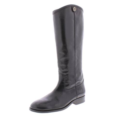 Frye Womens Melissa Button 2 Riding Boots Leather Knee-High - Black