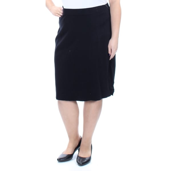 9f2a0f49c Shop CHARTER CLUB Womens Black Knee Length Pencil Wear To Work Skirt Size:  XL - On Sale - Free Shipping On Orders Over $45 - Overstock - 21216746
