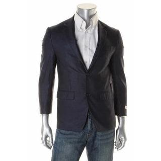 MICHAEL Michael Kors Mens Silk Blend Herringbone Two-Button Blazer - 38R