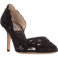 Badgley Mischka Marissa D'Orsay Heels, Black Satin