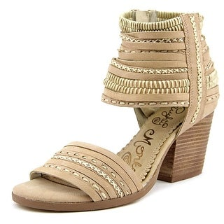 Naughty Monkey Strappy & Happy Women Open Toe Leather Tan Sandals