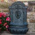 Sunnydaze Imperial Lion Outdoor Wall Fountain - Thumbnail 2