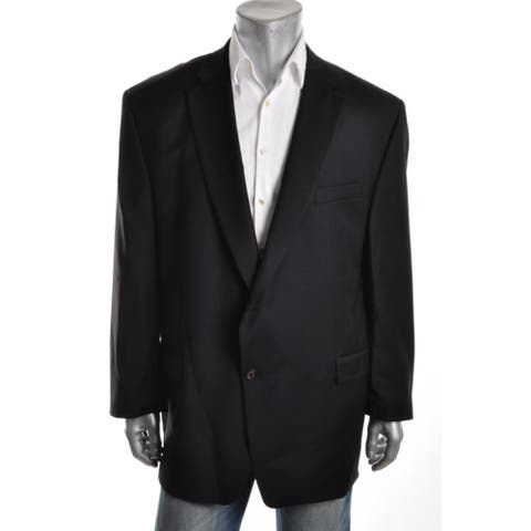 Ralph Lauren Mens Sportcoat Wool Notch Collar - Black - 50L