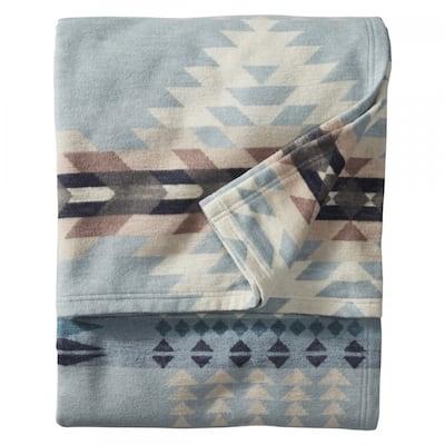 Pendleton Rancho Arroyo Organic Cotton Shale Washable Queen Blanket