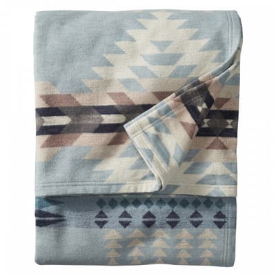 Pendleton Rancho Arroyo Shale Organic Cotton Washable Twin Blanket