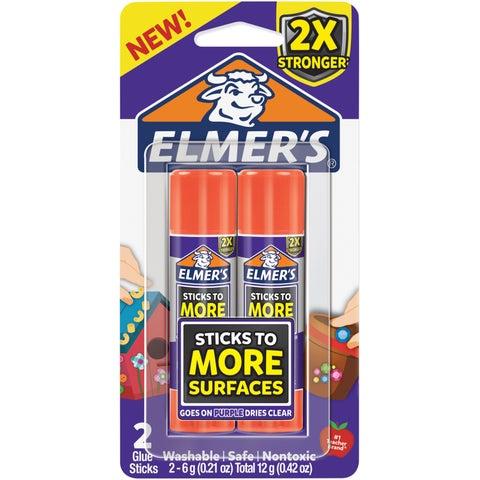 Elmers Extra Strength Glue Sticks 2/Pkg-.21Oz Each