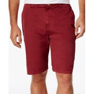 Weatherproof NEW Claret Red Mens Size 34 Zip-Fly Stanton Cargo Shorts