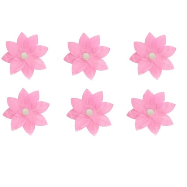 Shop Pack Of 6 Pink Floating Lotus Paper Flower Outdoor Patio Decor