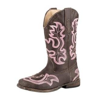 Roper Western Boots Girls Caroline Stitch Brown