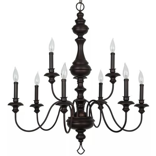 "Park Harbor PHHL6319 Cardiff 32"" Wide 9 Light 2 Tier Shaded Style Chandelier with Candle Style Arms"