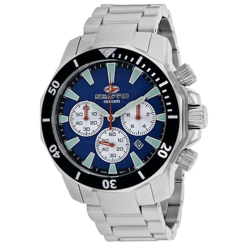 Seapro Men's Scuba Dragon Diver Limited Edition 1000 Meters Blue Dial Watch - SP8345