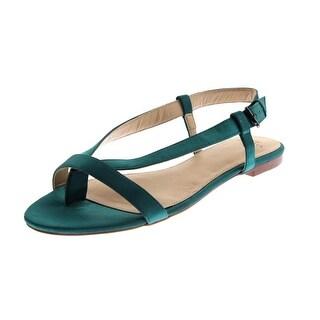 Zara Trafaluc Womens Satin Thong Slingback Sandals - 7.5 medium (b,m)
