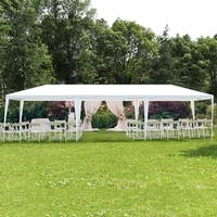 Costway 10'x30' Party Wedding Outdoor Patio Tent Canopy Heavy duty Gazebo Pavilion Event - White - S