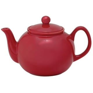 HIC NT7806RS Ceramic Teapot With Infuser, Rose, 32 Oz.
