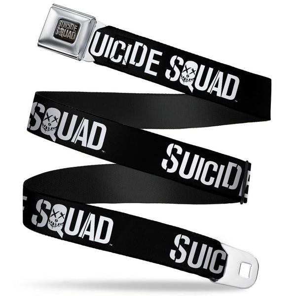 Suicide Squad Logo Full Color Black Gray Suicide Squad Logo Black White Seatbelt Belt