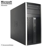 HP 6200 TW, Intel i5-2400 3.1GHz, 8GB DDR3, 120GB SSD+1TB HDD, DVD, WIFI, HDMI, VGA, DP Port, BT 4.0, W10P64(EN/ES)-Refurbished