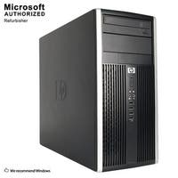 HP Compaq Pro 6305 Tower AMD A4-5300B 3.4G 8GB DDR3 2TB HDD DVD W10P64(EN/ES)-1 Year Warranty (Refurbished)-Black/silver