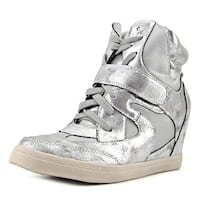 N.Y.L.A. Brawley Women   Synthetic Silver Fashion Sneakers