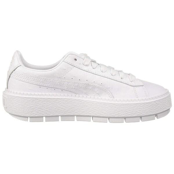 Shop PUMA Women's Platform Trace Ostrich Sneaker - Overstock ...