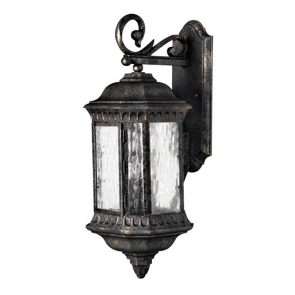 """Hinkley Lighting H1725 23.5"""" Height 3-Light Lantern Outdoor Wall Sconce from the Regal Collection - Black Granite - N/A"""