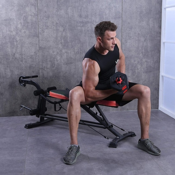 Zenova Adjustable Weight Bench for Full-Body With Two Drawstrings. Opens flyout.