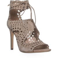 Via Spiga Elysia Perforated Ankle Strap Sandals, Antelope - 9.5 us / 39.5 eu