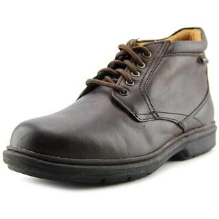 Nunn Bush Webb Lake Men Round Toe Leather Brown Ankle Boot