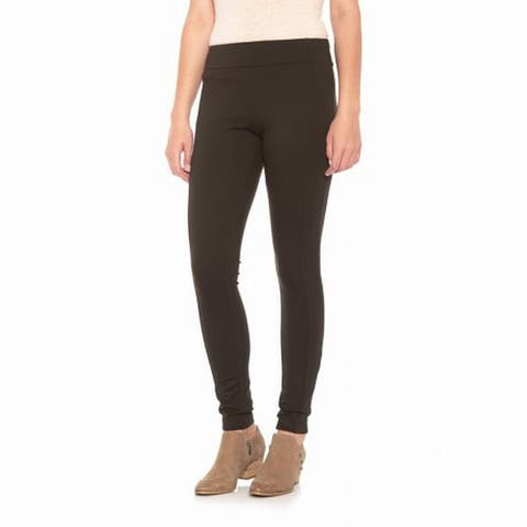 Sojo Women's Leggings Expresso Brown Size 12 Pull-On Seamed Solid