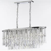 Modern Crystal Rain Drop Chandelier 8 Lights - Chrome
